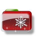 Christmas-Folder-Snow-Stars icon