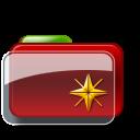 Christmas-Folder-Star icon
