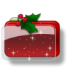 Christmas-Folder-Holly-Stars icon