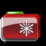 Christmas-Folder-Snow icon