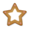 Christmas-cookie-star icon