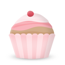 Cupcake-cake-cherry icon