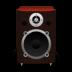 Speaker-Red-Wood icon
