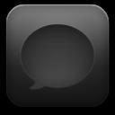Message-black icon