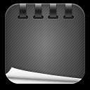 Notepad-black icon