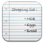 Shopping-list icon