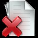 Document-Delete icon