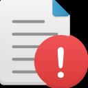 File-warning icon