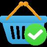 Shopping-basket-accept icon