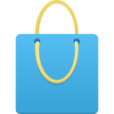 Shopping-bag-blue icon