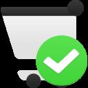 Shopping-cart-accept icon