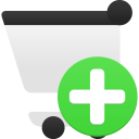 Shopping-cart-add icon