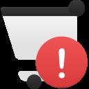 Shopping-cart-alert icon