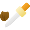 3d-material-eyedropper-tool icon