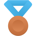 Bronze-metal-blue icon