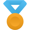 Gold-metal-blue icon