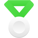 Silver-metal-green icon