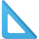 Triangle-ruler icon