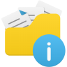 Open-folder-info icon