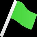 Flag1-green icon