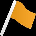 Flag1-orange icon