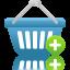 Shopping-basket-add icon