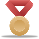 Metal-bronze-red icon