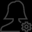 User-woman-setting icon