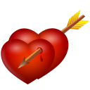 Arrow-and-hearts icon