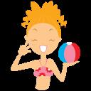 Beach-girl-ball icon