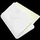 Folder-flower-light-grey icon
