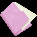 Folder-flower-lila icon