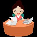 Eyes-office-women-pink icon