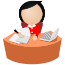 Office-women-red icon