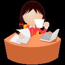 Office-women-yellow icon