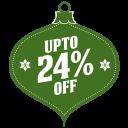 Upto-24-percent-off icon