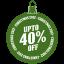 Upto-40-percent-off icon