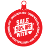 Sale-50-percent-off-heart icon