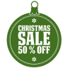 Christmas-sale-50-percent-off icon