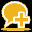 Yellow-balloon-plus icon