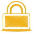 Yellow-lock icon