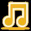 Yellow-music icon