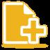 Yellow-document-plus icon