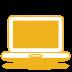 Yellow-laptop icon