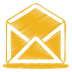 Yellow-mail-open icon