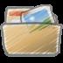 Scribble-folder-photos icon