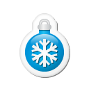 Xmas-sticker-ball-blue icon