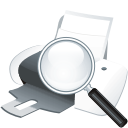 Printer-search icon