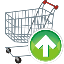 Shopping-cart-up icon