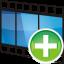 Movie-track-add icon
